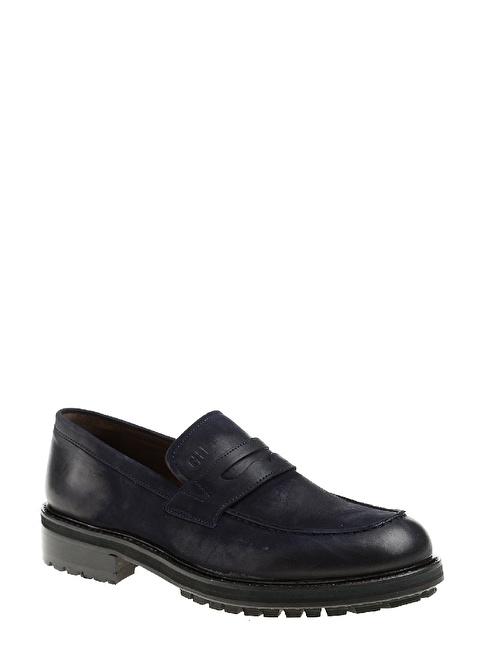 George Hogg %100 Deri Klasik Ayakkabı Lacivert
